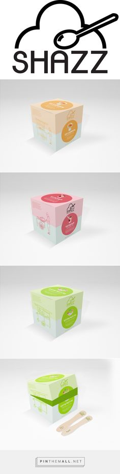 SHAZZ authentic Indonesian ice cream by Vanessa Lois. Source: Behance. Pin curated by #SFields99 #packaging #design #inspiration #icecream #pastel #color #soft #box