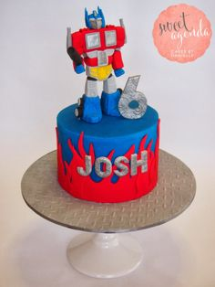 transformer fondant cakes