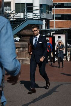 #mens #guys #street #fashion #menswear #style #streetstyle #sydney #suit #clutch #leather #frames #glasses #pocket #square #pyrmont  meninthistown.com