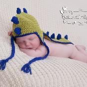 Dinosaur Hat - via @Craftsy