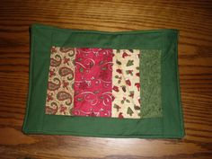 Quilted Christmas Sandwich or Mug Mat. $7.99, via Etsy.
