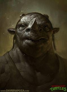 Realistic Teenage Mutant Ninja Turtles Portraits by Dave Rapoza