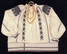 Hello all, Today I will talk about another type of embroidery from Eastern Podillia, specifically the southern parts of Khmel& Types Of Embroidery, Embroidery Designs, Folk Clothing, Traditional Outfits, Smocking, Bell Sleeve Top, Bomber Jacket, Costumes, Stitch