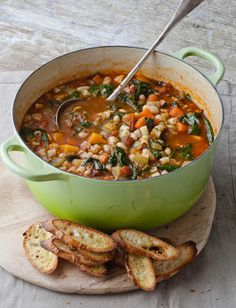 Ina+Garten's+Winter+Minestrone+&+Garlic+Bruschetta