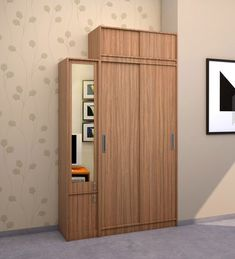 Abigail Two door sliding Wardrobe designed in MDF