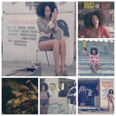 Beauty South Africa: Solange teamed up with the elegant Le Sape Society (Society for the Advancement of People of Elegance) to film her new music video 'Losing You' in Cape Town. This chick has so much style!! Plus she rocks her curls naturally!
