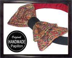 PAPILLON UOMO rosso nero LUCCICANTE da SERA elegante handmade PRE TIED bow tie
