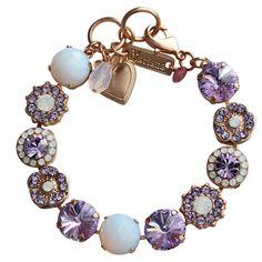Mariana Rose Gold Plated Large Flower Shapes Swarovski Crystal Bracelet. Available at www.regencies.com