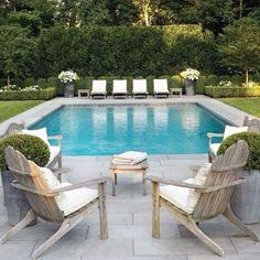 pool i trädgården