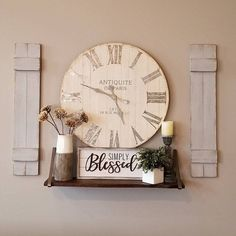 Awesome modern farmhouse decor are readily available on our web pages. Read more and you wont be sorry you did. Farmhouse Frames, Farmhouse Wall Decor, Modern Farmhouse, Farmhouse Style, Room Wall Decor, Living Room Decor, Bedroom Decor, Wall Clock Decor, Bedroom Wall
