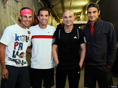 The best of the best: Rafael Nadal, Pete Sampras, Andre Agassi and Roger Federer