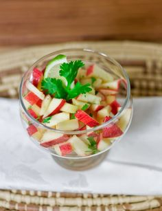 MELOMEALS: Simple Raw marinated apple salad