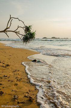 Hikkaduwa, Southern Province, Sri Lanka #SriLanka #Hikkaduwa #Beach