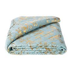 Azul y dorado... Una bonita combinación para tu cama! Hoy de #oferta a 39,99€ en hogaresconestilo.com  #home #hogar #estilo #deco #decoración