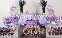 Festa Princesas mesa geral