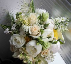 The Flower Magician: Vintage Cream, Gold, Lemon & Ivory Wedding Bouquet