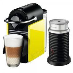 Cafeteira Nespresso Pixie C60 Preta e Amarela + Aeroccino 3 Por: R$ 479,92