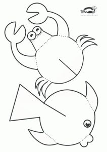 children activities, more than 2000 coloring pages Sea Crafts, Fish Crafts, Diy And Crafts, Arts And Crafts, Paper Crafts, Diy For Kids, Crafts For Kids, Children Crafts, Sea Theme