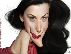 Liv Tyler Caricature by Jubhubmubfub on DeviantArt