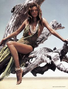 Earthy Moss. Lol  images of Kate Moss by Mert and Marcus taken from Vogue UK (June 2002) via www.fashiongonerogue.com