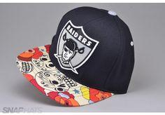 Los Angeles Raiders Dios de los Muertos Custom Strapback Hat