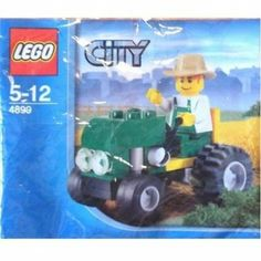 Amazon.com : LEGO City Mini Figure Set #4899 Tractor Bagged : Toy Interlocking Building Accessories : Toys & Games