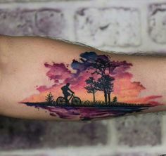 Water color overlay tattoo