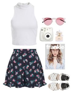 """""""Frankie"""" by s-g-e ❤ liked on Polyvore featuring Topshop, Bardot, Marc Jacobs, Fujifilm and Illesteva"""