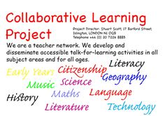 Collaborative Learning Project: ideas, resources and activities (many cater for EAL learners)