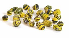 Fun and Funky Yellow and Black Glass Beads!! Multishaped and Multisized. Very Pretty and Colorful!!  12 Beads Per Order. 2 Orders Available. by FunkyCreativeJuices on Etsy