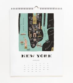 already got my calendar for 2013. rifle paper's new one based on cities of the world was too awesome to resist.