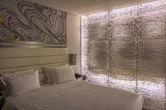 Concrete Wall Designs: 30 Striking Bedrooms That Use Concrete Finish Artfully - Home Hotel Room Design, Bedroom Design, House Design, Accent Walls In Living Room, Bedroom Wall, Accent Wall Designs, Beautiful Bedrooms, Wall Cladding, Bedroom Wall Designs