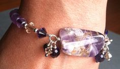 Amethyst Bracelet Third Eye Chakra Crown Chakra by SacredArtwear, $50.00