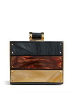 Tortoise Paneled Minaudiere by Halston Heritage Handbags for $60 | Rent The Runway