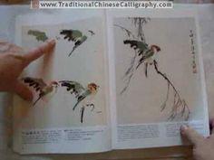 """國畫 Yang O-shi's book """"100 Birds."""" Painting Chinese Birds. 國畫小鳥 - YouTube"""