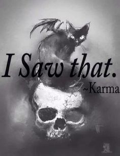 Karma always returns, if not this life then in triple force next life. you see all those who suffer horribly, its karma balancing what was not balanced in previous lives. Witch Quotes, Pagan Quotes, Book Of Shadows, Occult, Awakening, Religion, Sayings, Illustration, Funny