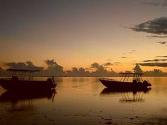 Sunset, coral coast fiji