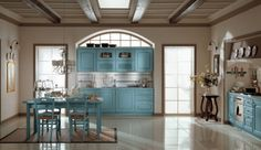 Ala Cucine Blue Kitchen Design. Fun and elegant!