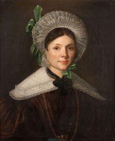 Ecole française du XIXème siècle Portrait de femme Huile sur toile 65 x 54.5 cm - Aguttes - 17/12/2015