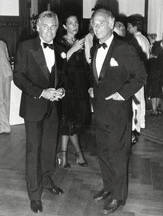 #Atribute to Friends: Giorgio Armani with Oscar De La Renta. For more, visit Armani.com/AtributeGiorgio