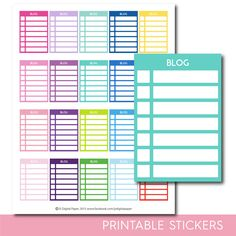 Blog stackable stickers, Blog checklist stickers, Blog stickers, Blog planner stickers, Blog full box, Blog sidebar, STI-284