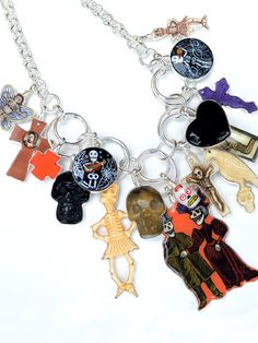Day of the Dead Charm Necklace from Coreen Cordova