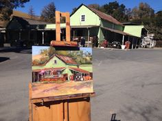 Painting en Plein air at Cooper Garrod Winery in Saratoga, CA - Hey, I was there when Kristen Olson painted that!