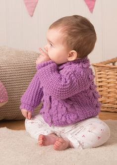 Cardigans in Deramores Baby DK (1017) Digital Version | Deramores