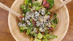 Rach kicks an average Caesar salad up a notch. Bacon and Blue Caesar Salad
