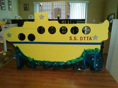 Yellow submarine dance recital stage prop for three year old dance class.