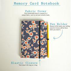 Memory card notebook