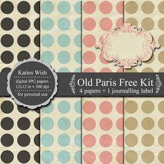 Free Printable gorgeous polka dot digi paper.