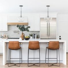 Luxury Home Interior .Luxury Home Interior Counter Stools With Backs, Leather Counter Stools, Stools For Kitchen Island, Counter Height Bar Stools, Bar Stools For Kitchen, Kitchen With Bar Counter, Brown Leather Bar Stools, Leather Stool, Kitchen Islands