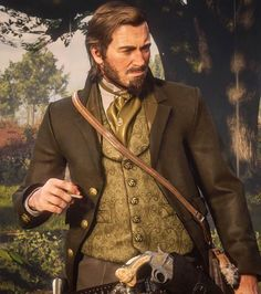 Arthur Morgan as Calvin Candie Western World, Western Art, Wild West Games, Red Dead Redemption 1, Read Dead, Red Right Hand, Rdr 2, Movie Props, English Style